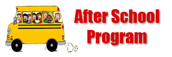 Clip Art of School Bus with banner that reads After School Program